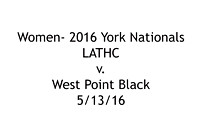 W- LATHC v. West Point Black; 5/13/16