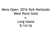 M-West Point Gold v Long Island; 5/14/16