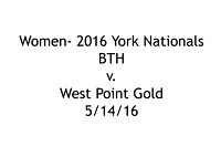 W-BTH v. West Point Gold; 5/14/16