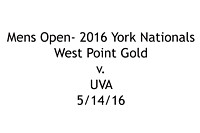 M- West Point Gold v. UVA; 5/15/16